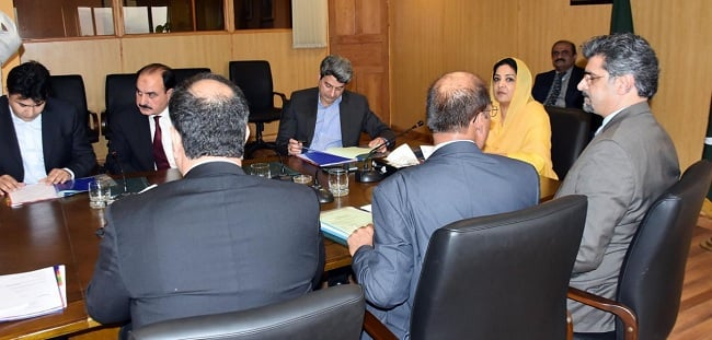 mos it and telecom mrs anusha rehman while chairing 38th board