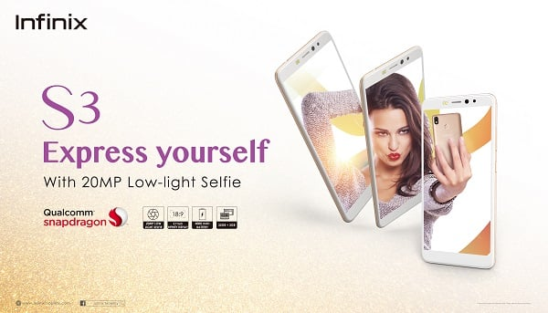 INFINIX S3 CATCHES THE EYES OF MARKET TO BECOME THE HOT SELLING BRAND MOBILE