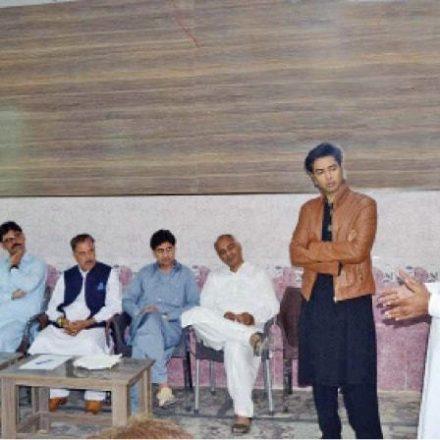 Shehzad Roy visits Barkana village school and college