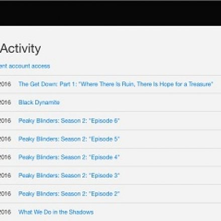 Now you can delete items from your Netflix Watch History