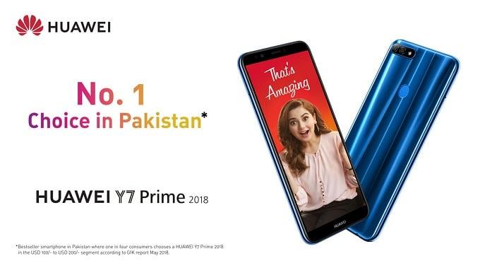 HUAWEI Y7 Prime 2018 is Pakistan's Bestselling SmartphoneEver