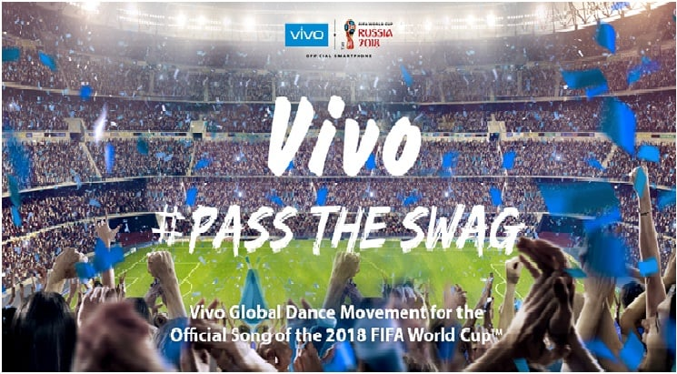 PassTheSwag to the Official Song of the 2018 FIFA World Cup with Vivo!