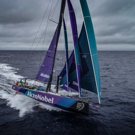 Team AkzoNobel finishes Volvo Ocean Race with second place on final leg; becomes fastest crew in Volvo Ocean Race history