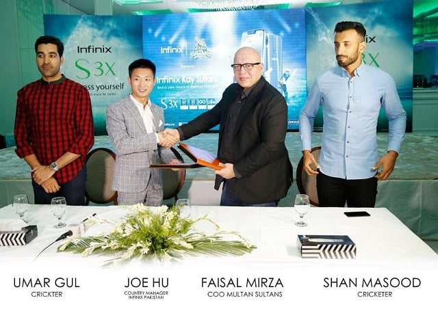 Infinix Unveils its first AI Integrated, Notch Screen S3xand Multan Sultans Campaign