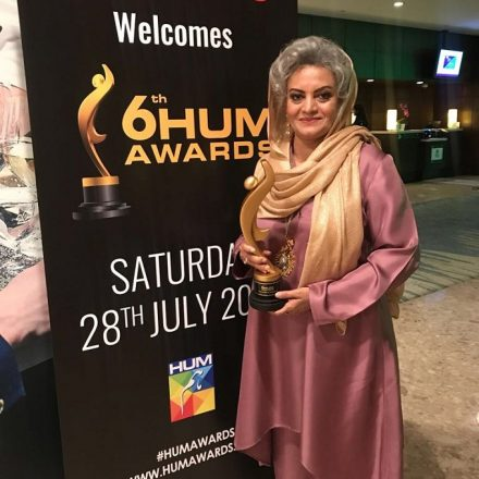 The Iconic Masarrat Misbah Received the Excellence in Humanity Award at Hum Awards 2018