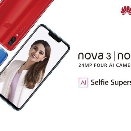 Huawei launches AI Selfie Superstar Nova 3 / 3i in Pakistan