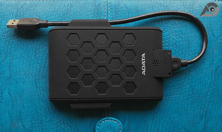 Durable ADATA HD720 external hard drive is waterproof,  dustproof, and shock-resistant