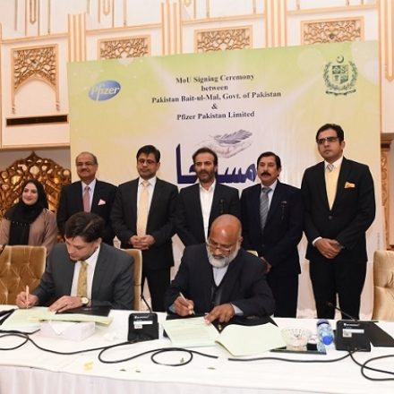 Pfizer Pakistan Limited signed a MoU with Pakistan Bait-ul-Mal, Government of Pakistan to support Patients through Access Program