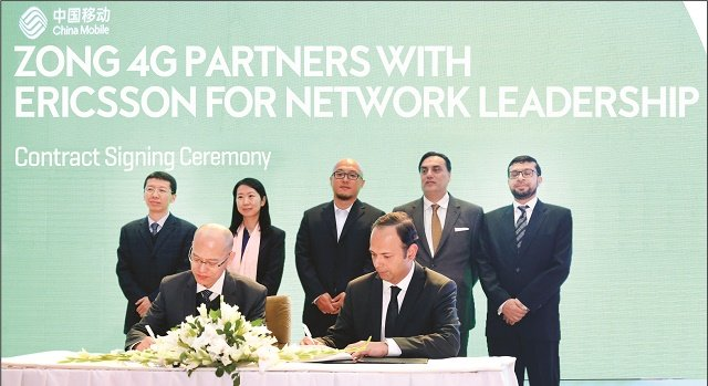 Zong 4G partners with Ericsson for Network Expansion