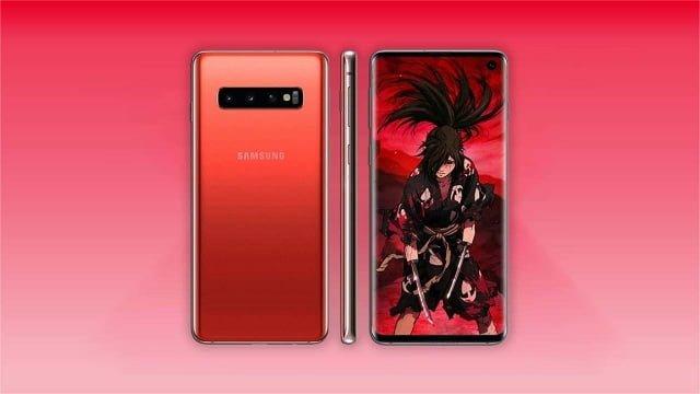 Galaxy S10 Cinnabar Red render
