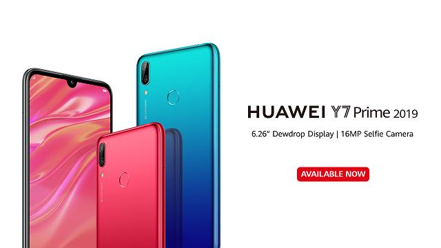 HUAWEI Y7 Prime 2019 Sweeps Pre-orders Goes on Sale
