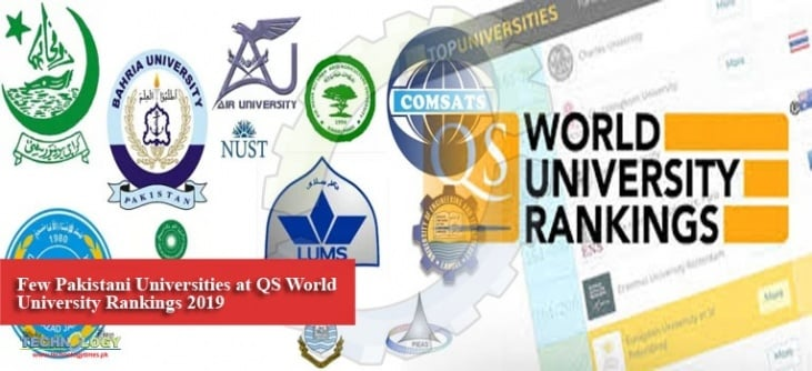 PAKISTANI UNIVERSITIES RANKINGS IN THE QS SUBJECT RANKINGS 2019