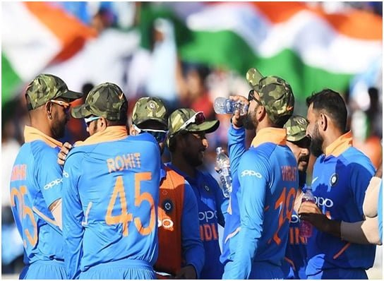 INDIAN CRICKET TEAM PAYS TRIBUTE TO INDIAN ARMY, DURING AN ODI MATCH...
