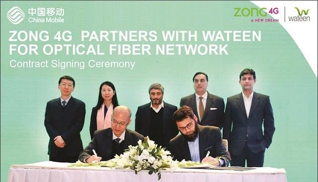 Zong 4G extends partnership with Wateen for long haul optical fiber