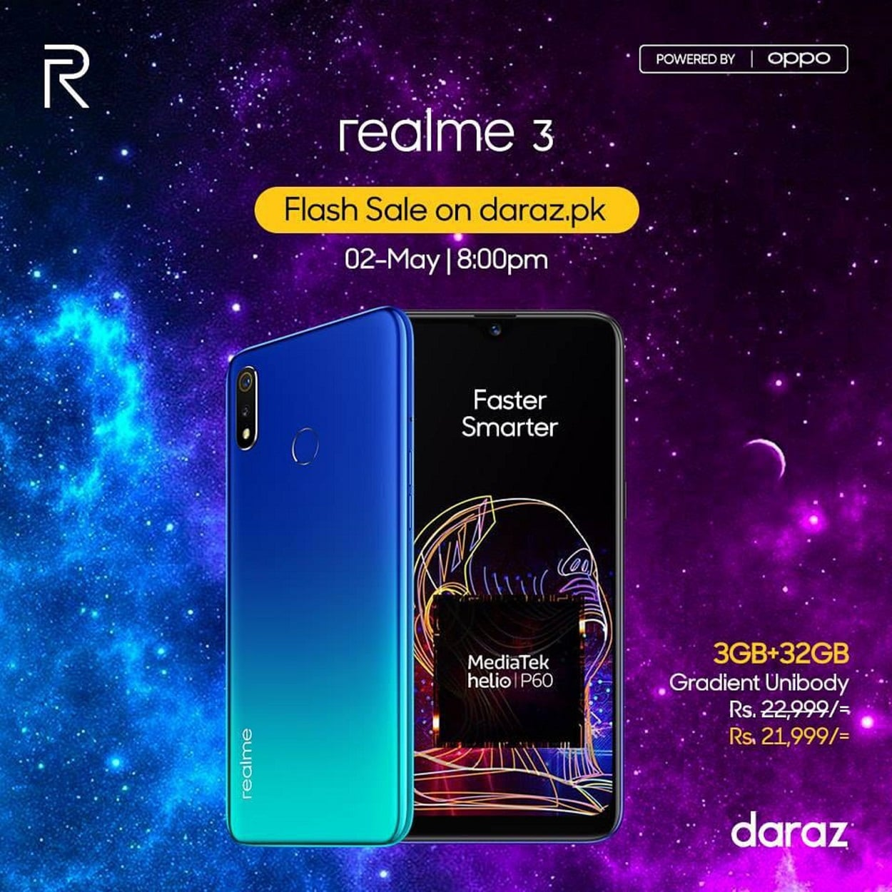 Realme 3 earned a high rating of 5 on Daraz.com