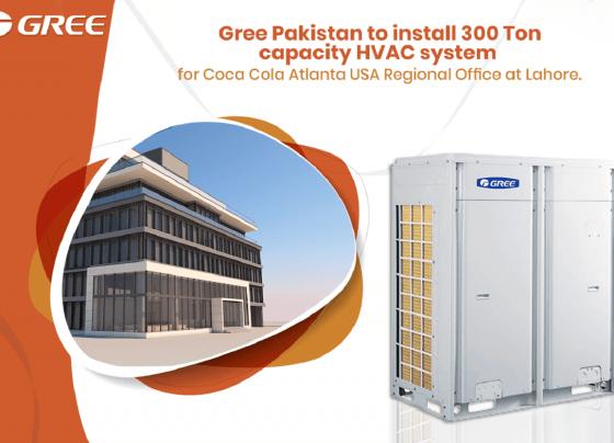GREE Pakistan to install 300 Ton capacity HVAC system for Coca Cola Atlanta USA Regional Office