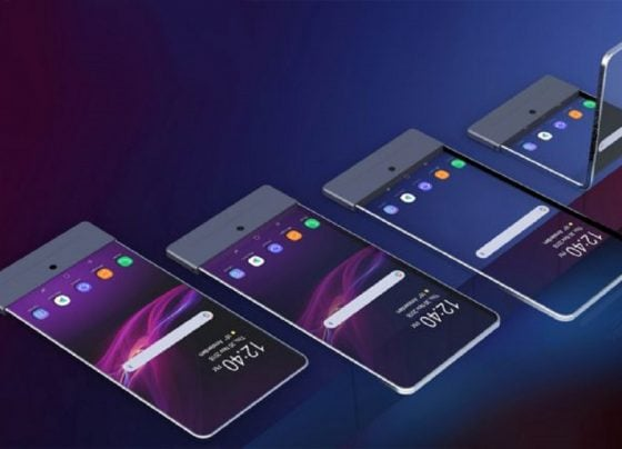 Sony Patents a foldable phone - has In-screen sensors