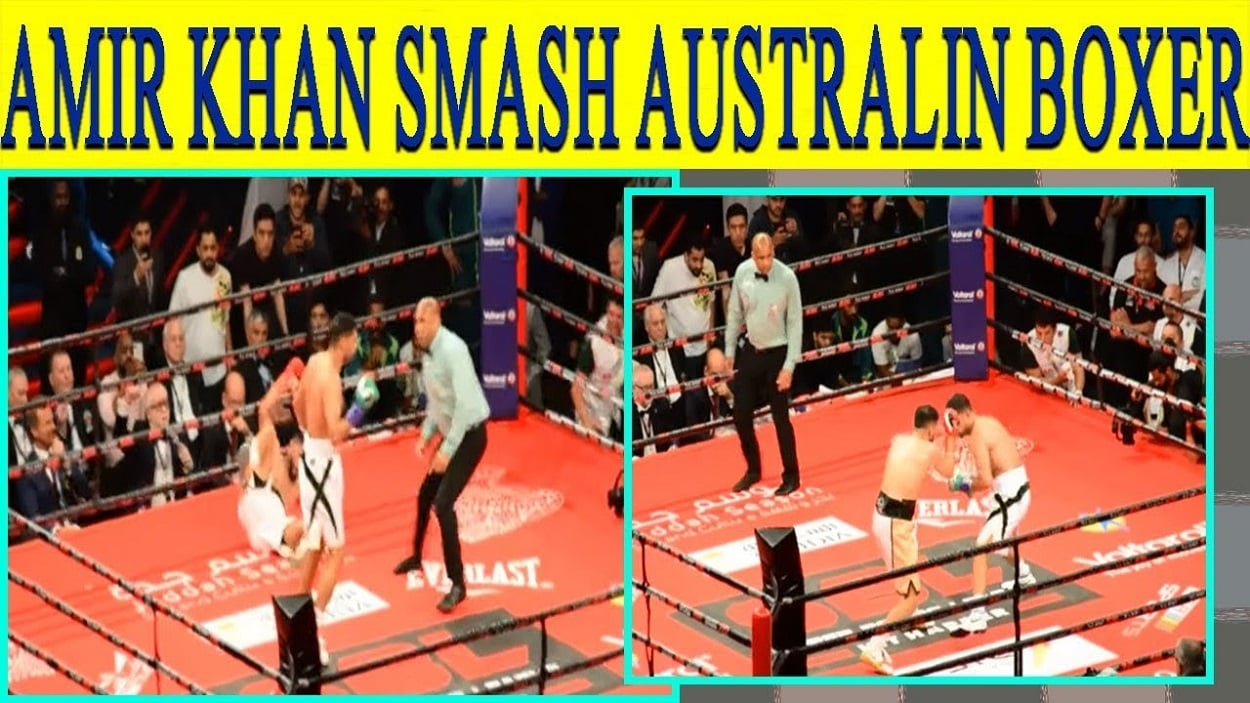 Australia's Billy Dib knocked out by Amir Khan in Saudi Arabia's super boxing league