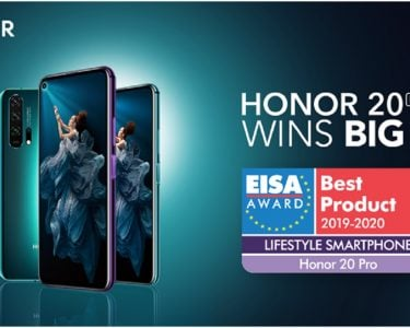 HONOR 20 Pro Wins EISA Lifestyle Smartphone 2019-2020 Award