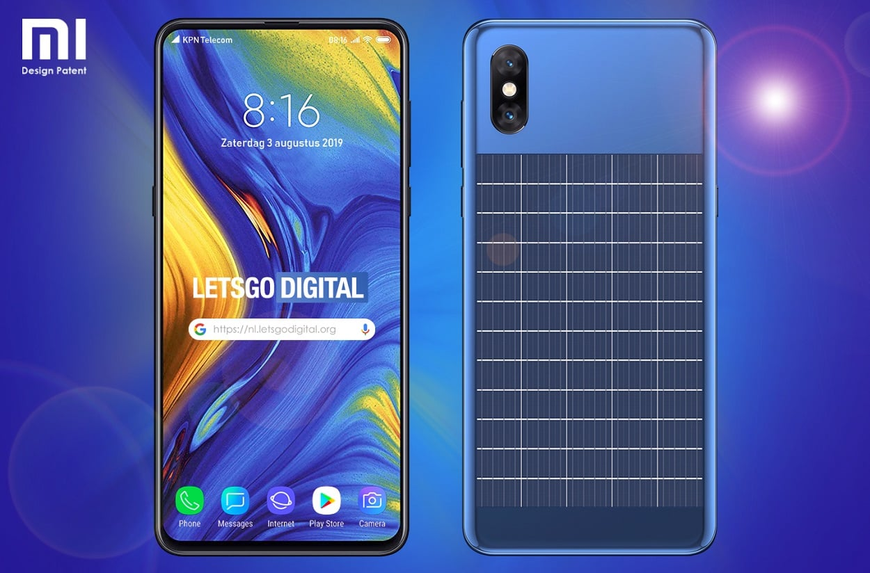 Xiaomi smartphone with a solar panel?