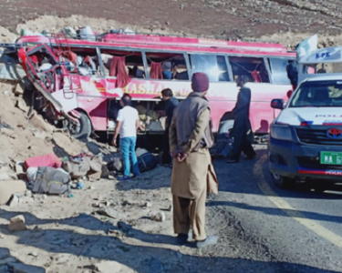 BUS ACCIDENT AT BABUSAR PASS LEAVES 26 DEAD