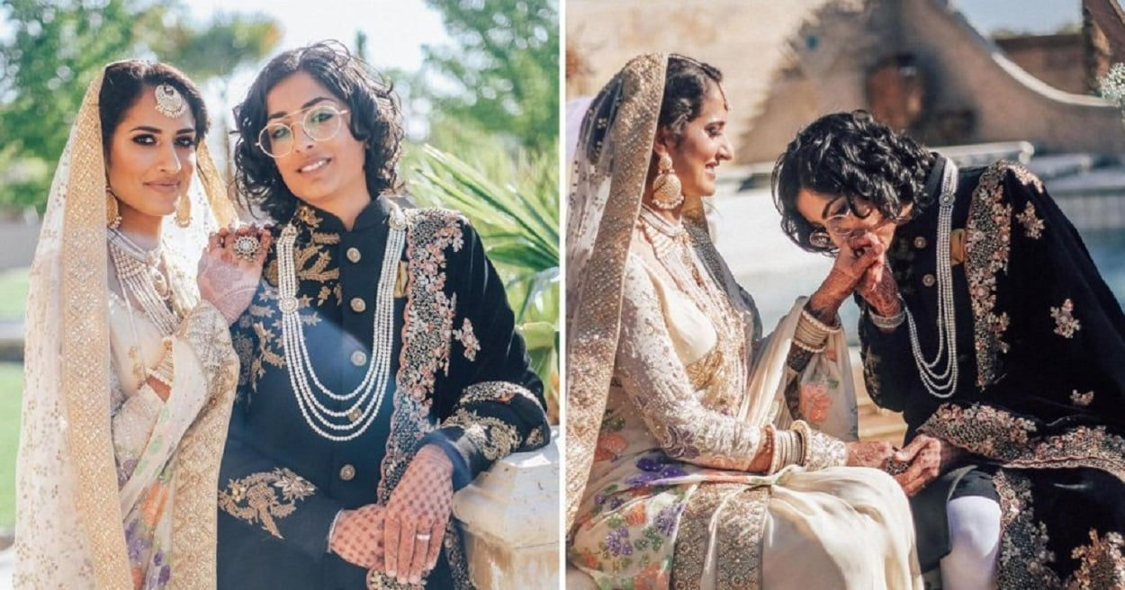 Indian-Pakistani lesbian couple get married