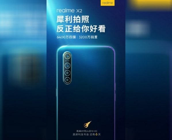Realme X2 to launch on September 24th