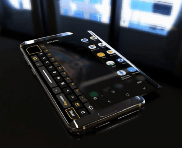 It is believed that Samsung are working on a sliding display device