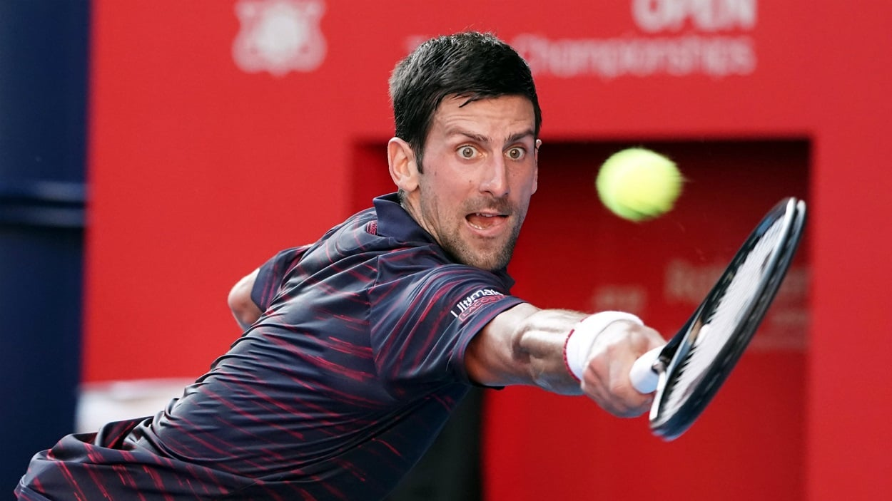 Novak Djokovic lands in another final, this time in the Japan Open