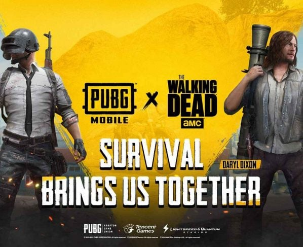 """PUBG Mobile gets """"The Walking Dead"""" themed styles and skins on game"""