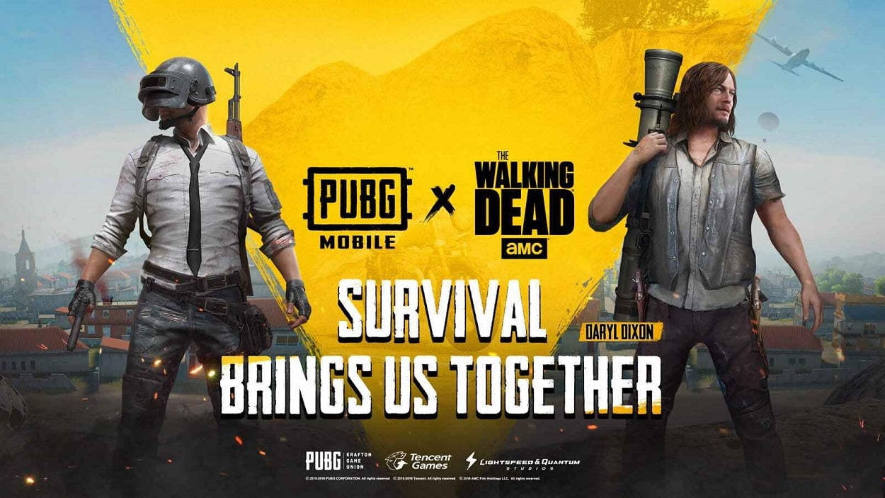 "PUBG Mobile gets ""The Walking Dead"" themed styles and skins on game"