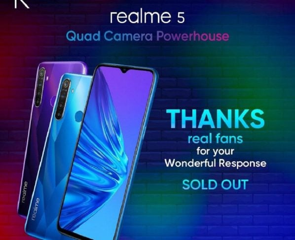 Pakistan's new best seller budget king realme 5 sold out with record breaking offline sale