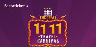 Sastaticket.pk launches Pakistan's Biggest Ever Travel Sale This 11.11!