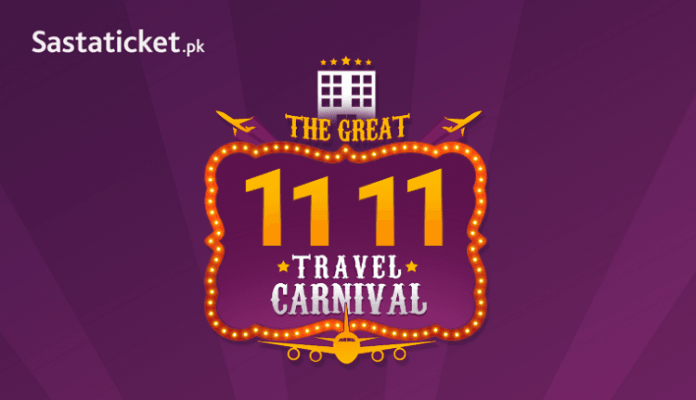 Sastaticket.pk launches Pakistan's Biggest Ever Travel Sale This 11.11!