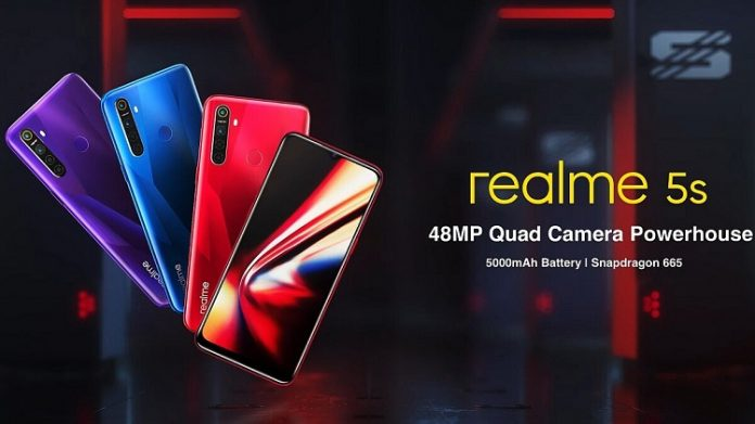 The Realme 5s to feature with the Snapdragon 665 processor