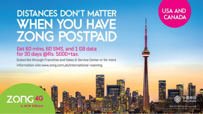 ZONG 4G offers USA & CANADA