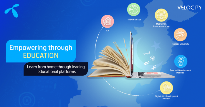 Telenor Velocity introduces digital education solutions to facilitate learning and skill development