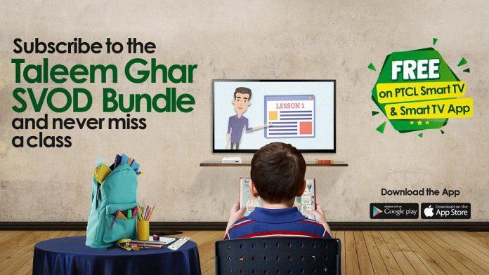 PTCL Smart TV provides online free education to students TaleemGhar –HarGharBanay Ga School