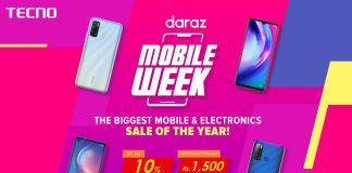 """TECNO CO-Sponsored with Daraz.pk for the Biggest """"Mobile Week"""" Sale Discount Offers"""