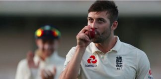 Mark Wood with West Indies