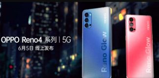 Oppo Reno 4 render and specs emerge