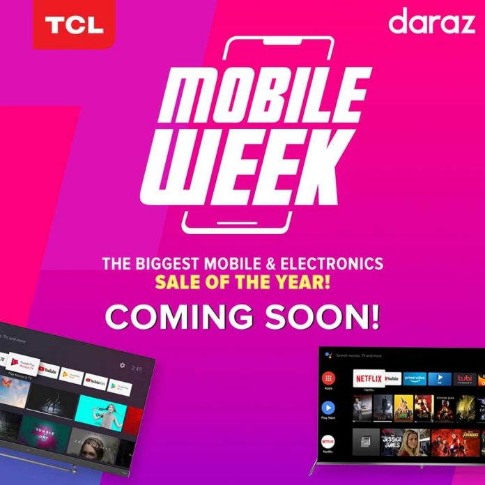 Brace yourself for the Biggest Electronic Sale as TCL collaborates with Daraz Mobile Week 2020