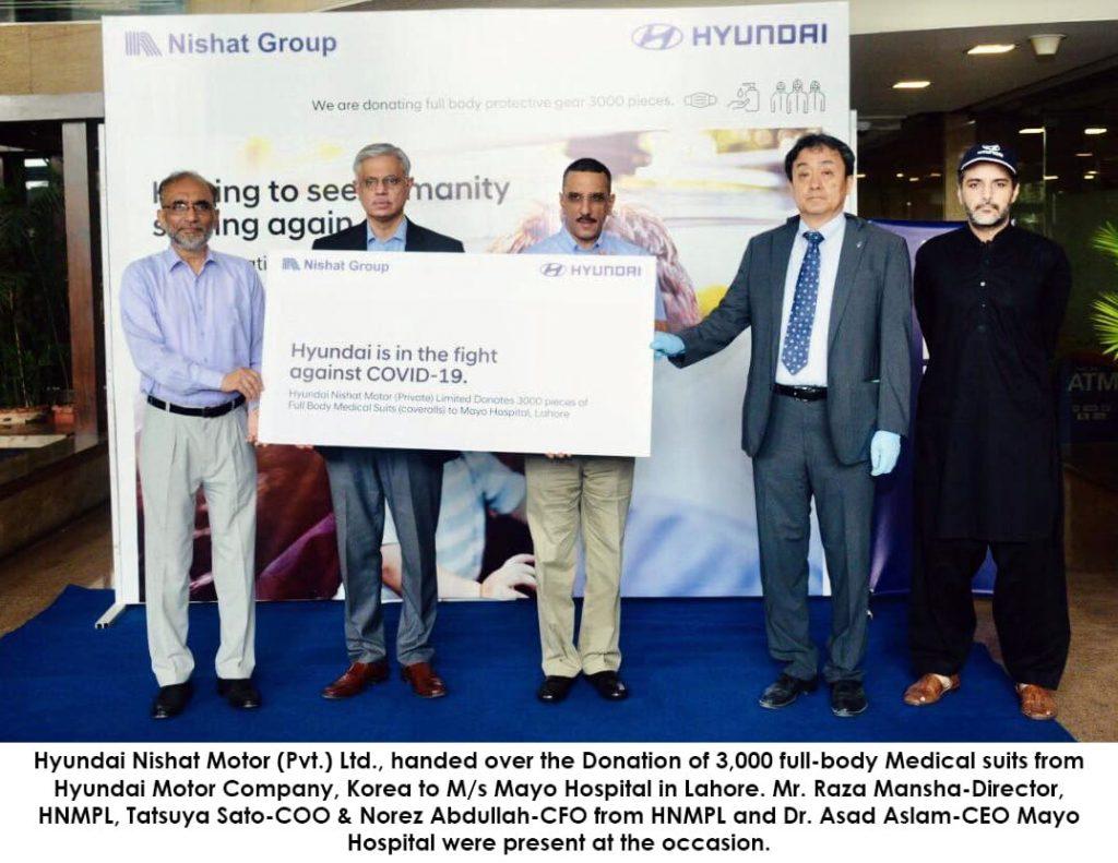Hyundai donates for COVID-19