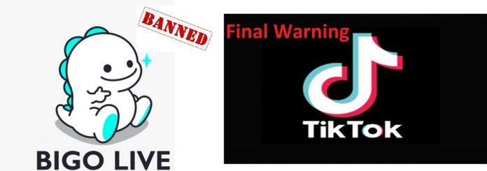 PTA ISSUES FINAL WARNING TO TIK TOK AND BLOCKS BIGO APP