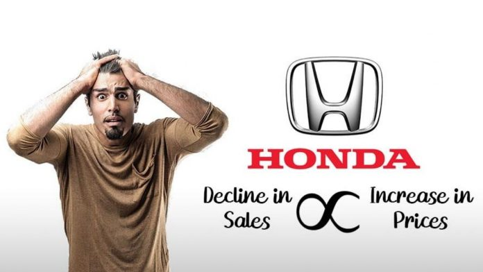 Honda Increases Prices Of Its Cars