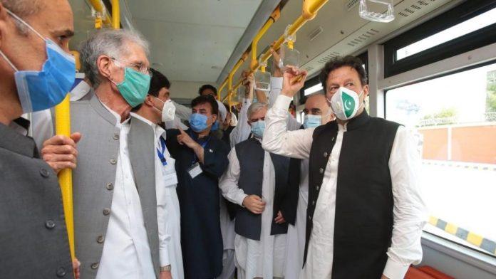 PM Khan Inaugurates BRT Train In Peshawar