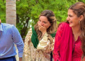 Junaid Khan with Hira Mani and armeena khan