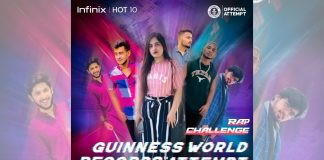 Infinix sets the GUINNESS WORLD RECORD for most People on Rap Video Relay
