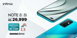 Infinix Note 8 a master piece of year 2020 is available across Pakistan