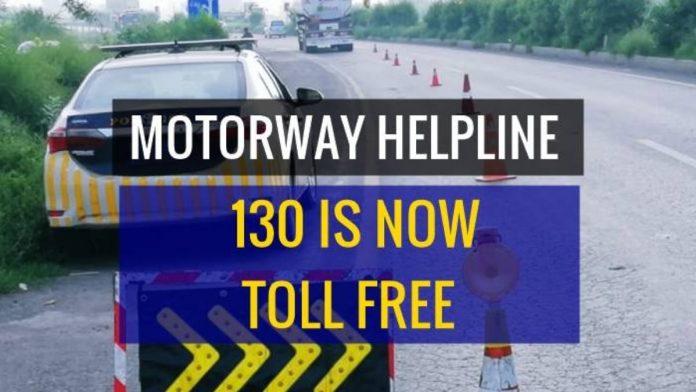 Motorway Helpline Calls Made Free
